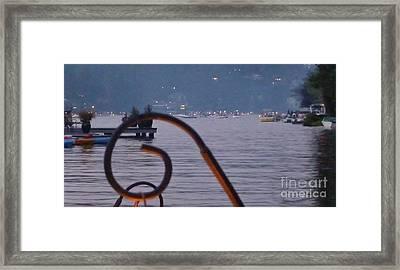 Summer Lake Twinkles Framed Print by Susan Garren