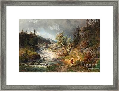 Summer Landscape Framed Print by Celestial Images