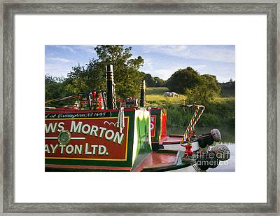 Summer Light On The Grand Union Canal Framed Print by Tim Gainey