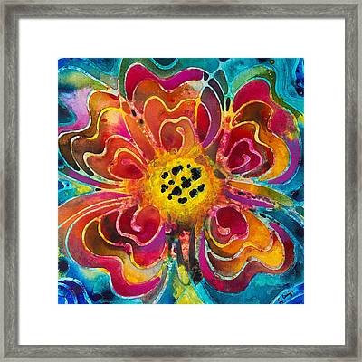 Colorful Flower Art - Summer Love By Sharon Cummings Framed Print by Sharon Cummings