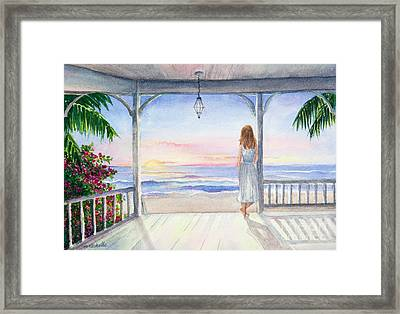 Summer Morning Watercolor Framed Print by Michelle Wiarda