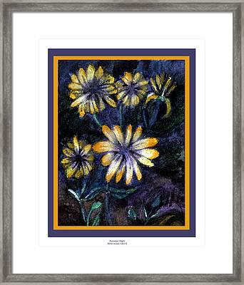 Summer Night Framed Print by Rose Aune