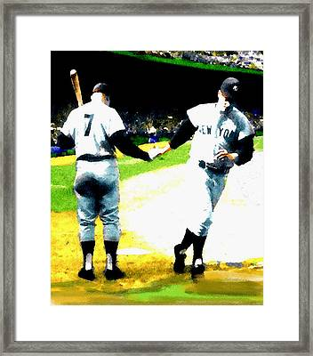 Summer Of The Gods  Iv 1961 Mickey Mantle Framed Print by Iconic Images Art Gallery David Pucciarelli