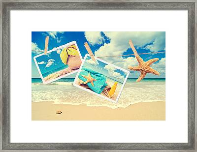 Summer Postcards Framed Print by Amanda And Christopher Elwell
