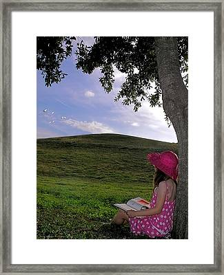 Summer Reading  Framed Print by Chrystyne Novack