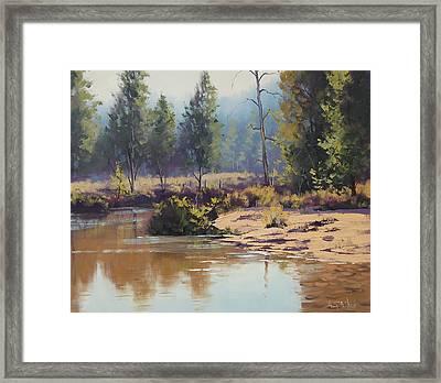 Summer River  Framed Print by Graham Gercken