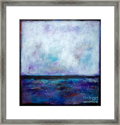 Summer Series A Night At The Ocean Framed Print by Johane Amirault