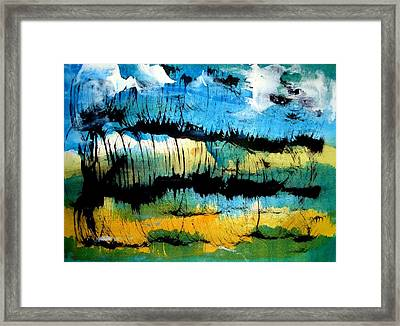 Summer Sky Framed Print by Aquira Kusume