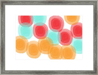 Summer Sorbet- Abstract Painting Framed Print by Linda Woods