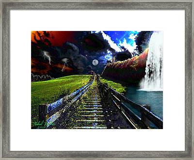 Summer Storm Framed Print by Michael Rucker
