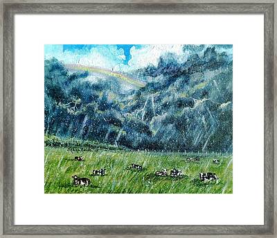 Summer Storm Framed Print by Shana Rowe Jackson