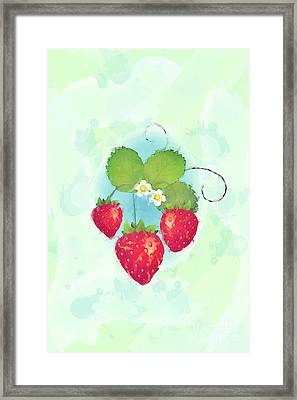 Summer Strawberries Framed Print by Jane Rix