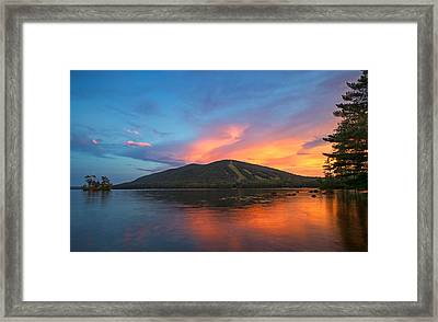 Summer Sunset At Shawnee Peak Framed Print by Darylann Leonard Photography