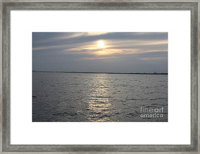 Summer Sunset Over Freeport Framed Print by John Telfer