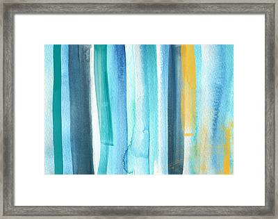 Summer Surf- Abstract Painting Framed Print by Linda Woods
