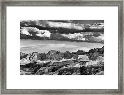 Summer Thunderstorm Badlands National Park Sd Framed Print by Troy Montemayor