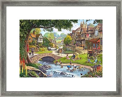 Summer Village Stream 2015 Framed Print by Steve Crisp