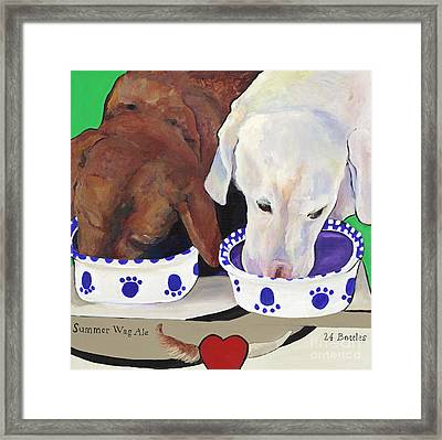 Summer Wag Ale Framed Print by Pat Saunders-White