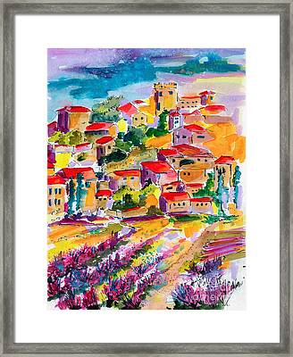 Summer Walk In Provence Framed Print by Ginette Callaway
