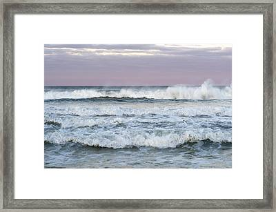 Summer Waves Seaside New Jersey Framed Print by Terry DeLuco