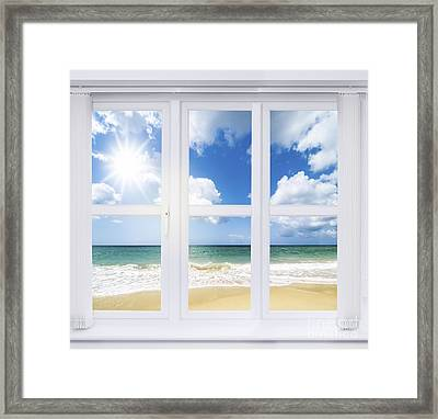 Summer Window Framed Print by Amanda Elwell