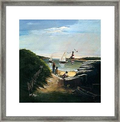 Summer's End Framed Print by Diane Strain