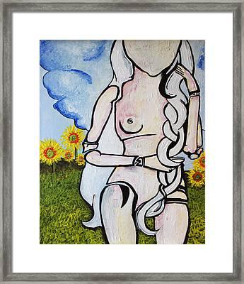 Summertan Framed Print by Sanne Rosenmay