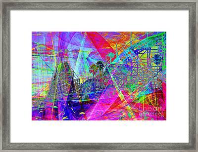 Summertime At Santa Cruz Beach Boardwalk 5d23930 Framed Print by Wingsdomain Art and Photography