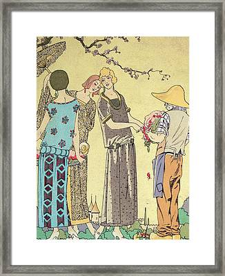 Summertime Dress Designs By Paul Poiret Framed Print by Anonymous