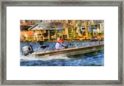 Summertime On The Boat Framed Print by Dan Sproul