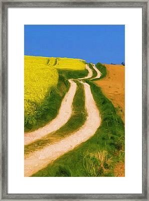 Summertime Sadness Framed Print by Ayse Deniz