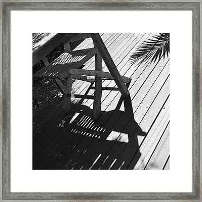 Summertime Shadows Framed Print by Cheryl Miller
