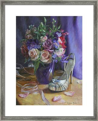 Summertime Stilettos Framed Print by Anna Rose Bain