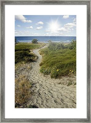 Summertime Walk Framed Print by Les Cunliffe