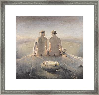 Summit Framed Print by Odd Nerdrum