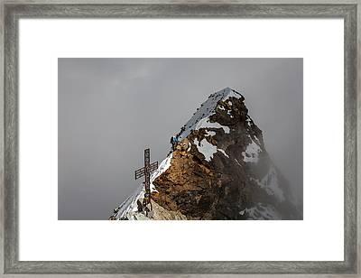 Summit Of Matterhorn Framed Print by Konstantin Dikovsky