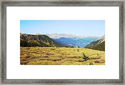 Summit View In Autumn Framed Print by Ann Powell
