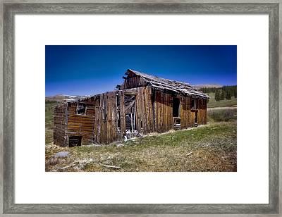 Summitville - Colorado Ghost Town Framed Print by Ellen Heaverlo