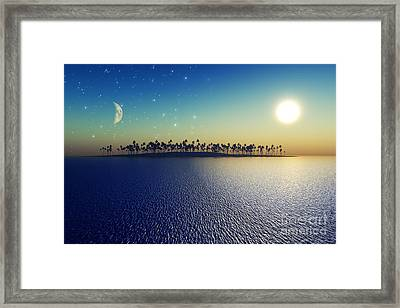 Sun And Moon Framed Print by Aleksey Tugolukov