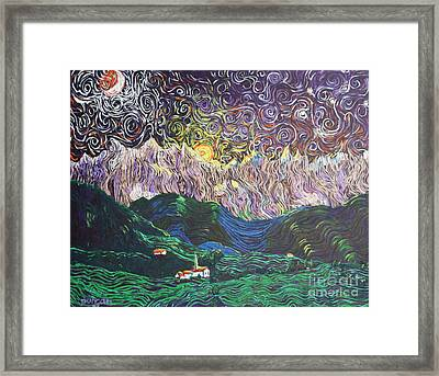 Sun And Moon Night Framed Print by Stefan Duncan
