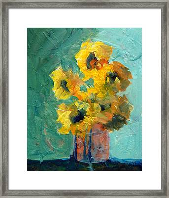 Sun And Shadow Framed Print by Nancy Merkle