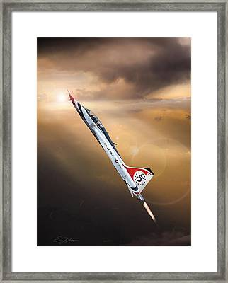 Sun Chaser 5 T-38 Framed Print by Peter Chilelli