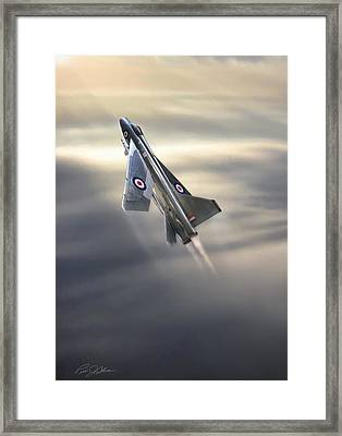 Sun Chaser Electric Lightning Framed Print by Peter Chilelli