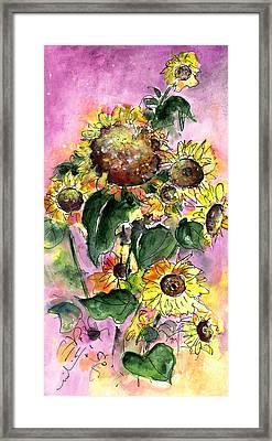 Sun Flowers From Avila Framed Print by Miki De Goodaboom