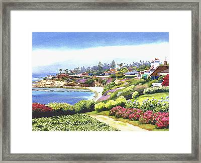 Sun Gold Point La Jolla Framed Print by Mary Helmreich