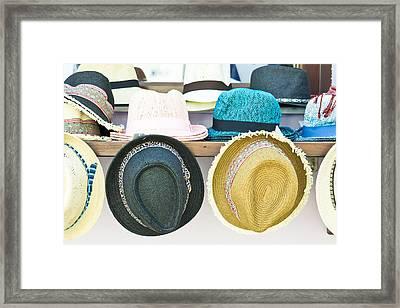 Sun Hats Framed Print by Tom Gowanlock