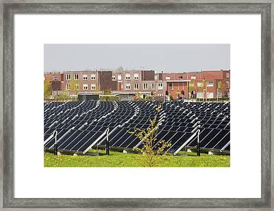 Sun Island In Almere Framed Print by Ashley Cooper