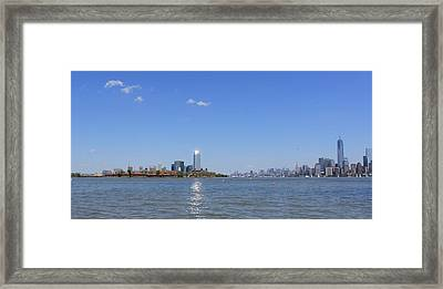 Sun-kissed Manhattan Framed Print by Suzanne Perry