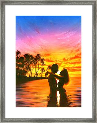 Sun Lovers Sun Worshippers Framed Print by Andrew Farley