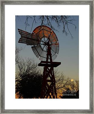 Sun Moon And Wind Framed Print by Robert Frederick